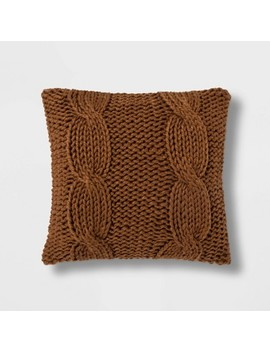 Chunky Cable Knit Throw Pillow   Threshold™ by Shop Collections