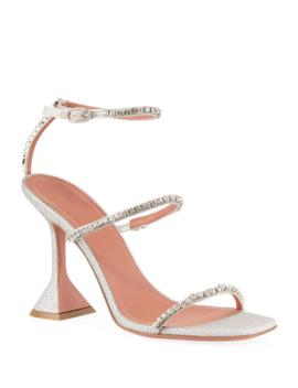 Gilda Glitter Crystal Sandals by Amina Muaddi