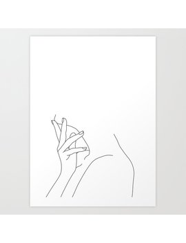 Figure Line Drawing Illustration   Josie Art Print by Society6
