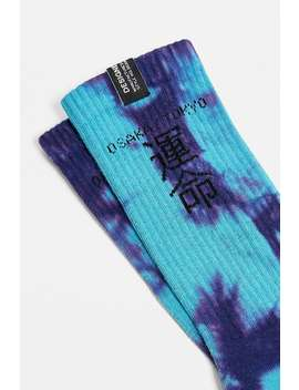 "Urban Outfitters – Batik Socken ""Typography"" In Blau Und Lila, 1 Pack by Urban Outfitters Shoppen"