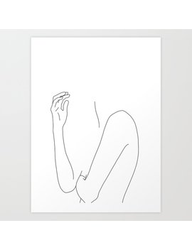 Figure Line Drawing Illustration   Dorit Art Print by Society6