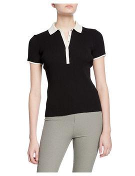 Libby Short Sleeve Ribbed Polo Shirt by Rag & Bone