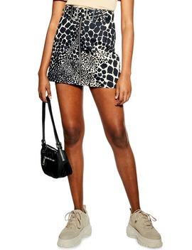 Giraffe Denim Miniskirt by Topshop