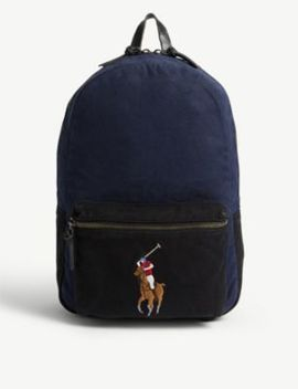 Polo Logo Canvas Backpack by Polo Ralph Lauren