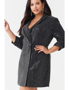 Plus Size Sequin Blazer Dress by Forever 21
