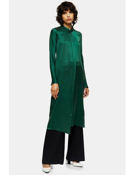 **Green Silk Twist Dress By Topshop Boutique by Topshop