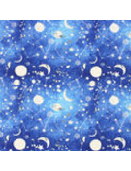Novelty Cotton Fabric Painted Space    Novelty Cotton Fabric Painted Space by Joann