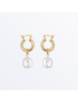 Pearl Hoop Earrings     Sara              Regular Price      ₪‌250 by Ana Luisa