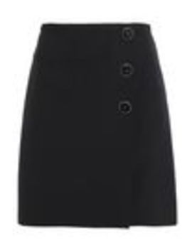 Button Detailed Crepe Wrap Skirt by Victoria, Victoria Beckham