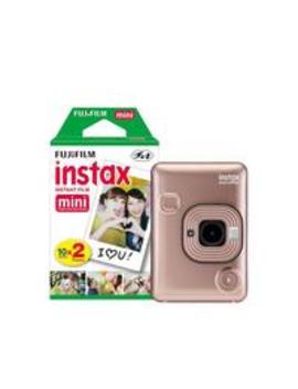Mini Li Play Hybrid Blush Gold Instant Camera Inc 20 Shots by Fujifilm Instax