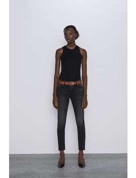 Jeans Z1975 Mid Rise Skinny Zips by Zara