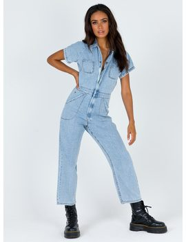 Thrills Tab Jumpsuit Light Thrift Blue by Thrills