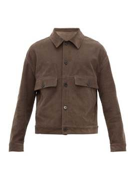 Chest Pocket Cotton Blend Corduroy Jacket by Raey