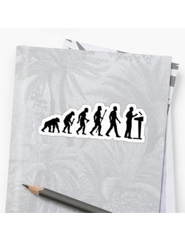 Funny Debating Evolution T Shirt Sticker by Beyond Evolved