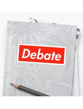 Debate   Supreme Logo Sticker by Christine Wang