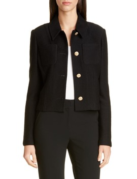 Float Jacquard Knit Jacket by St. John Collection