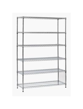 72 In. H X 48 In. W X 18 In. D 6 Shelf Steel Shelving Unit In Zinc by Sandusky