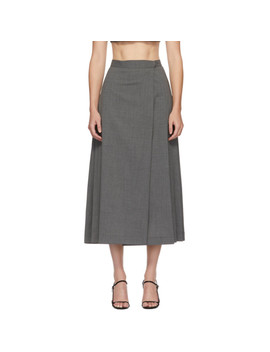 Grey Umbra Mid Length Skirt by Maryam Nassir Zadeh