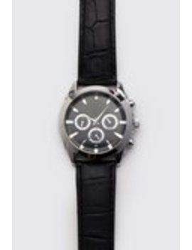 Croc Effect Classic Watch by Boohoo Man