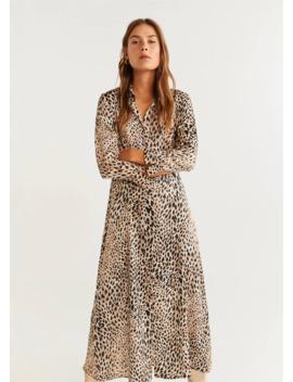 Vestido Camisero Leopardo by Mango