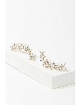 Floral Rhinestone Ear Cuffs by Forever 21