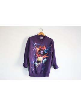 Vintage Space Universe Planet Sweatshirt by Etsy