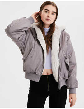 ae-reversible-faux-fur-bomber-jacket by american-eagle-outfitters