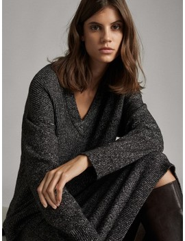 Purl Stitch MoulinÉ Cape by Massimo Dutti