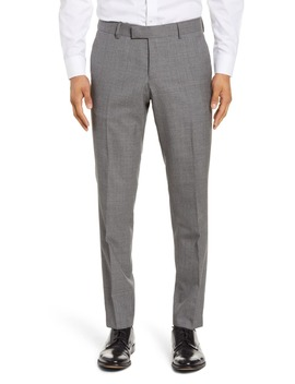 Flat Front Solid Wool Trousers by Tiger Of Sweden