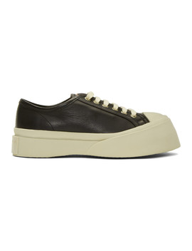 Black Nappa Pablo Sneakers by Marni