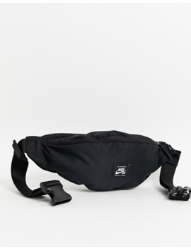 Nike Sb Bum Bag In Black With Logo Patch by Nike Skateboarding