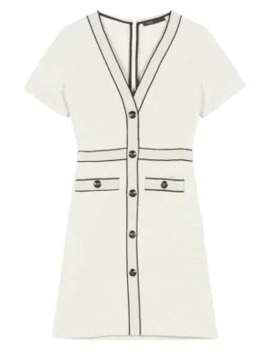 Roppy Tweed A Line T Shirt Dress by Maje
