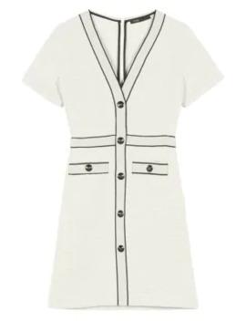 Roppy Tweed A Line T Shirt Dress by Maje