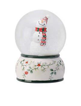 Winterberry Snowman Snowglobe by Pfaltzgraff