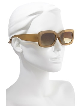 53mm Translucent Square Sunglasses by Bp.