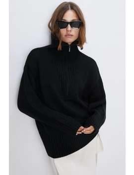 Wool Blend High Collar Sweater View All Knitwear Woman by Zara