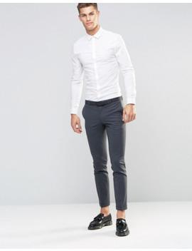 Asos Design   Camicia Skinny Bianca by Asos Design