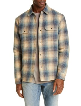 Jupiter Plaid Snap Up Wool Blend Shirt by John Elliott