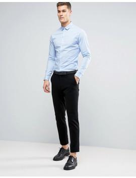 Asos Design   Confezione Da 2 Camicie Skinny Bianco E Blu   Risparmia by Asos Design