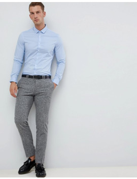 Asos Design   Confezione Da 2 Camicie Slim Bianco E Blu   Risparmia by Asos Design