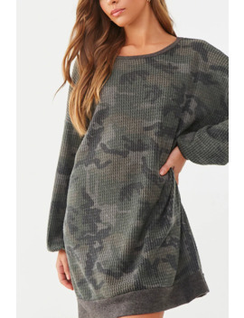 Camo Sweatshirt Dress by Forever 21