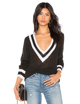 Bobbie V Neck Sweater In Black Multi by Superdown