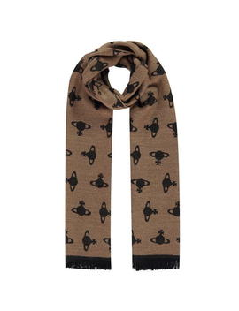Large Aop Orb Scarf by Vivienne Westwood Accessories