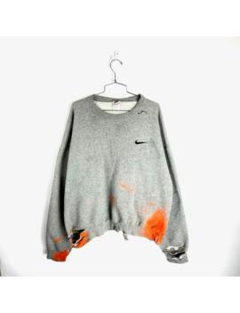 Vintage 90s Nike Sweatshirt Size Xl Distressed Swoosh by Nike  ×  Vintage  ×  Streetwear  ×