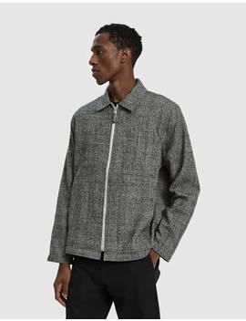 Zip Wool Check Blouson by Très Bien Très Bien