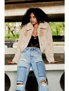 Uo Faux Fur Jacket by Urban Outfitters