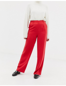 Selected Fraven Wide Leg Trousers by Selected