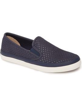 Seaside Perforated Varsity Slip On Sneaker by Sperry