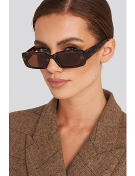 Wide Retro Look Sunglasses Brown by Na Kd Accessories