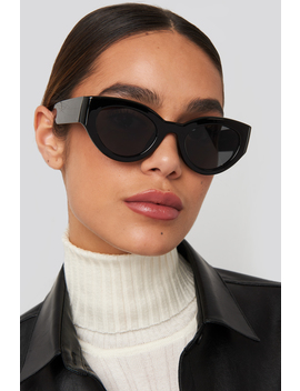 Detailed Temple Cateye Sunglasses Black by Na Kd Accessories